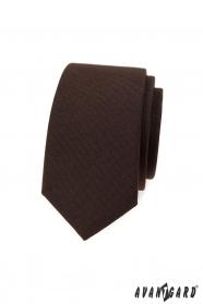 Schmale braune Krawatte