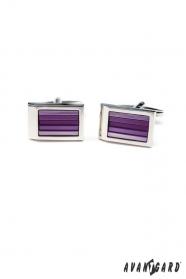 Manschettenknöpfe Violette Rechtecke