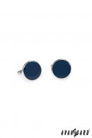 Runde Manschettenknöpfe blau