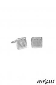 Quadratische abgerundete Manschettenknöpfe in Silber