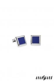 Manschettenknöpfe aus Silbermetall Blau-Violette