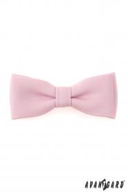 Herren Fliege mit Einstecktuch matt rosa