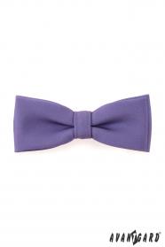Fliege mit Einstecktuch violett