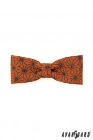 Orange Fliege mit geometrischem Muster
