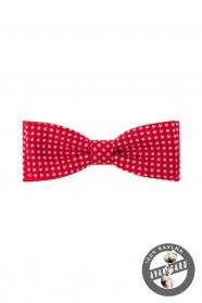 Rote Herren Fliege aus 100% Baumwolle weiße Sterne