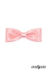 Fliege doppelt rosa glänzend
