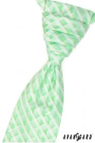 Grüne Hochzeitskrawatte mit Einstecktuch