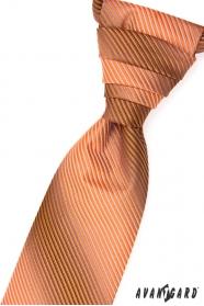 Hochzeitskrawatte orange gestreift