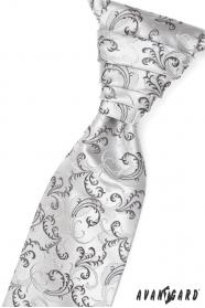 Hochzeitskrawatte schwarze und graue Motive