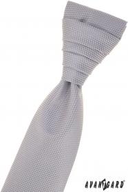 Graue strukturierte französische Krawatte
