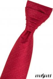 Rote französische Krawatte im Set mit Einstecktuch