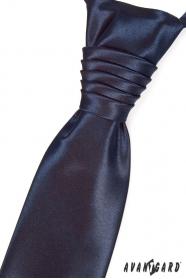 Hochzeitskrawatte mit Einstecktuch Navy Blue