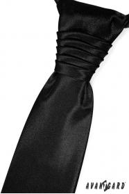 Elegante schwarze französische Krawatte
