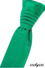 Smaragd Hochzeitskrawatte mit Einstecktuch