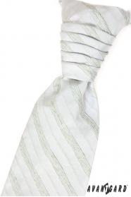 Hochzeitskrawatte mit Einstecktuch grüne Streifen