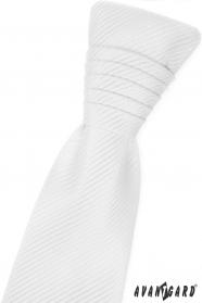 Weiße französische Krawatte mit glänzenden Streifen