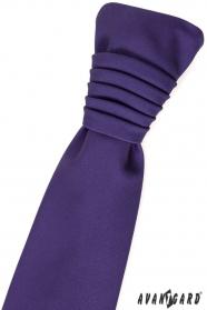 Dunkelviolette französische Krawatte