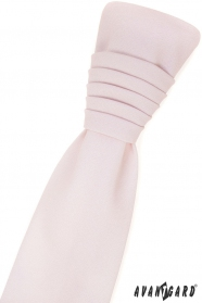 Französische Krawatte mit Einstecktuch - Rosa erröten