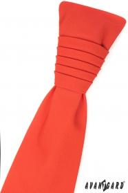 Dunkelorange französische Krawatte