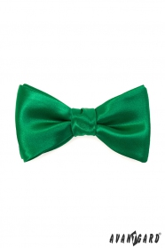 Selbstbindefliege mit Einstecktuch smaragdgrün