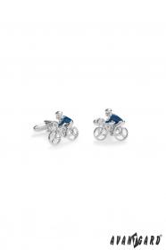 Manschettenknöpfe Radfahrer in Blau