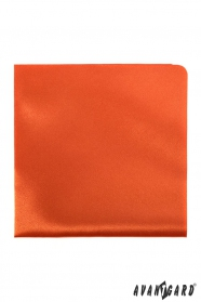 Herren Einstecktuch orange Glanz