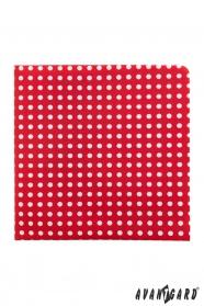 Rotes Einstecktuch mit weißen Punkten