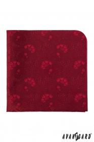 Herren Einstecktuch Rot Blumenmuster