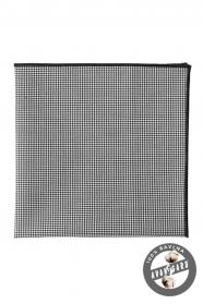 Schwarz-weißes Einstecktuch aus Baumwolle