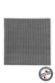 Einstecktuch Baumwolle schwarze Pünktchen