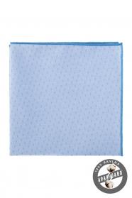 Hellblaues Baumwollstecktuch feines Muster