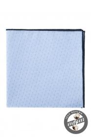Einstecktuch blau-schwarz Baumwolle