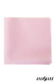 Feines rosafarbenes Einstecktuch für Männer