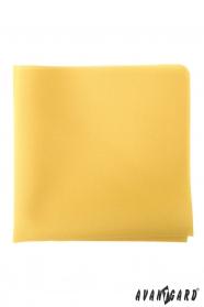 Gelbes Einstecktuch für Herren
