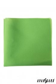 Grasgrünes Einstecktuch aus Polyester