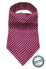 Roter Ascot mit blau-weißem Muster
