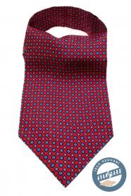 Seide Ascot mit rot-blauem Muster