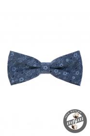 Blaue Herren Baumwoll-Fliege jeans mit Blüten