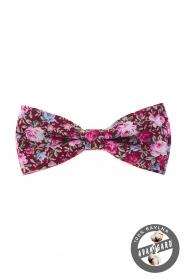Burgund Fliege mit rosa Blumen