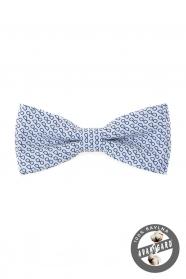 Weiße Baumwolle Fliege blaue Brille