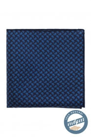 Einstecktuch aus Seide Paisley-Muster dunkelblau