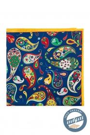 Buntes Seiden-Einstecktuch Paisley-Muster