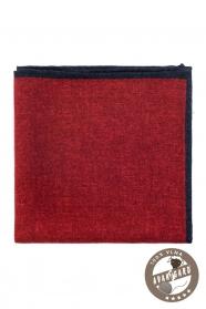 Rotes Wolleinstecktuch für Männer in Jacke