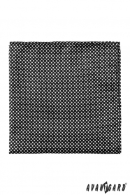 Schwarzes Einstecktuch Weiße Punkte