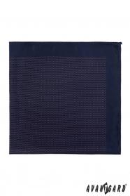 Dunkelblaues Einstecktuch mit feinem Muster