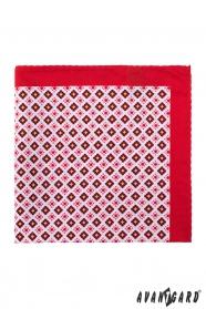 Einstecktuch rot kleines Muster