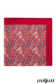 Paisley Einstecktuch in Rot