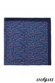 Paisley Einstecktuch dunkelblau