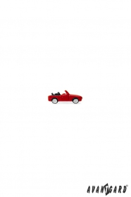 Rotes Auto Revers Anstecker