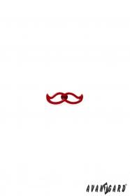 Roter Schnurrbart Revers Anstecker